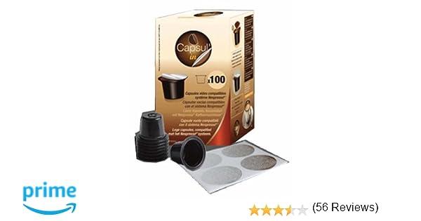 Capsulin - Bolsa Para 100 Cápsulas De Café Vacías Capsulin