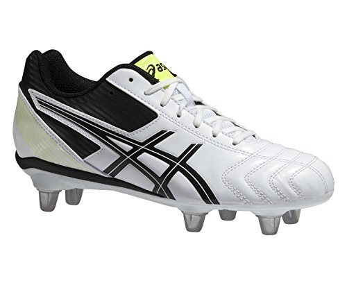 Asics Junior Lethal Tackle GS Bota De Rugby - AW15 blanco/negro