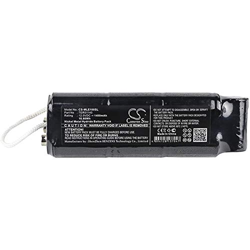 CS-MLE100SL Batería 1400mAh Compatible con [MINELAB] Excalibur 1000, Excalibur 800 Metal Detector, Excalibur II Metal Detector, Excalibur II PODS, Excalibur ...