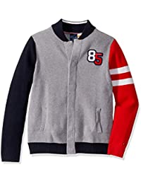 Boys' Adaptive Baseball Sweater with Magnetic Buttons at Front
