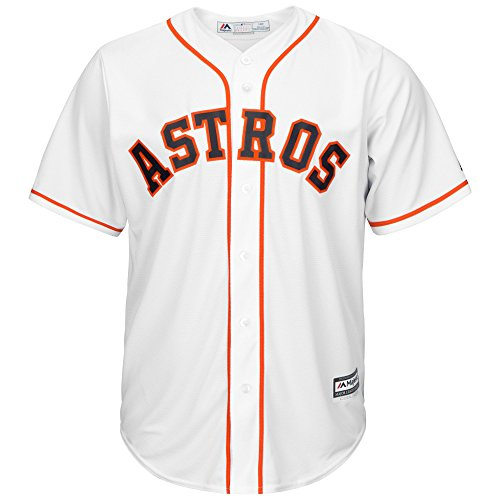 OuterStuff Houston Astros Blank Word Mark White Youth Cool Base Home Jersey (Small 8)