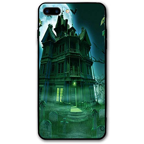 Happy Halloween Graveyard House iPhone 8 Plus Case, iPhone 7 Plus Case, Ultra Thin Lightweight Cover Shell, Anti Scratch Durable, Shock Absorb Bumper Environmental Protection Case Cover]()