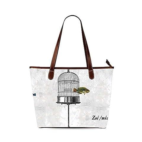 Bird Cage Custom Interest Print Tote Bag - Earthway Bag Seeder