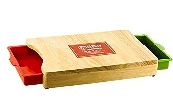 Cocina tabla de cortar o tabla de cortar w 2 color Tire Cajones  Amazon.es   Hogar 6852c334f3b6