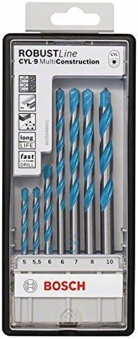Bosch 2607010546 Multi-Construction Drill Bits 7 Pieces /& 2607010533 Brad Point 8pcs