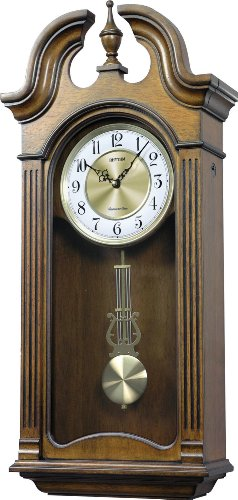 Rhythm Clocks Tiara II Wooden Musical Mantel Clock