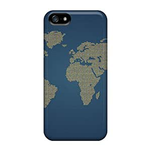 DreamDate Perfect Tpu Case For Iphone 5/5s/ Anti-scratch Protector Case (orange Dots World) wangjiang maoyi