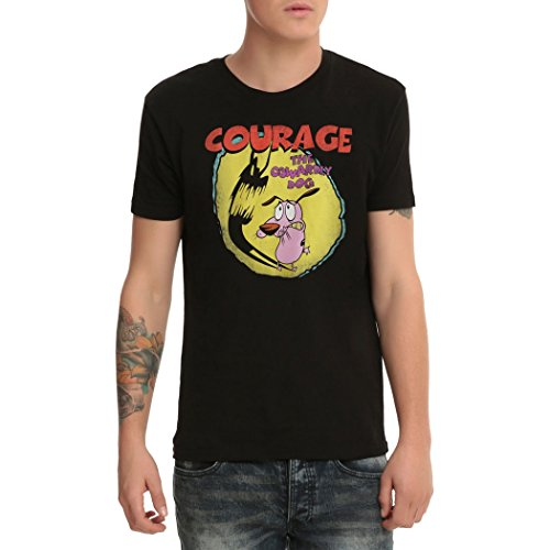 Courage the Cowardly Dog Shadow Logo T-Shirt-Large