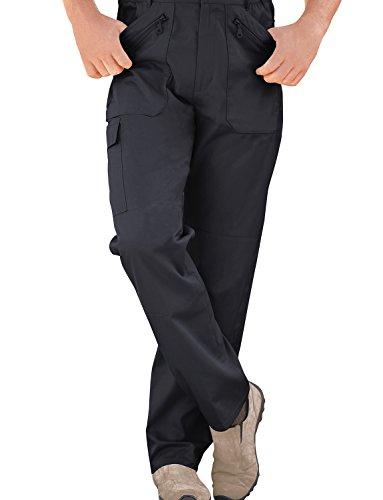 Hommes Élastiquée Pantalon De Travail Combat Multi Poche Cargo Bleu 86cm x 69cm