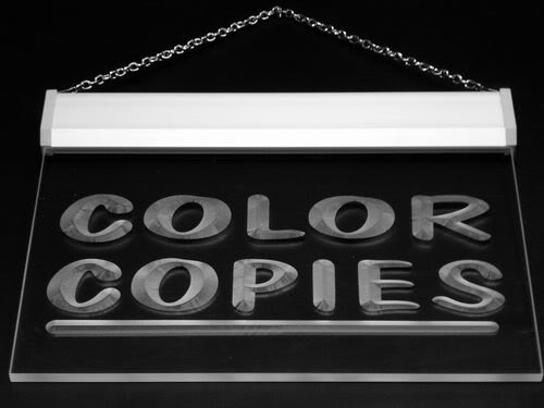 Multi Color i349-c Color Copies Shop Stationery Neon LED Sign with Remote Control, 20 Colors, 19 Dynamic Modes, Speed & Brightness Adjustable, Demo Mode, Auto Save Function Color Copy Neon Sign