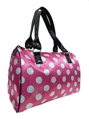 "Us Handmade Fashion Doctor Bag ""polka Dots"" Pattern Satchel Styles Purse Pink Color Drb 8502"