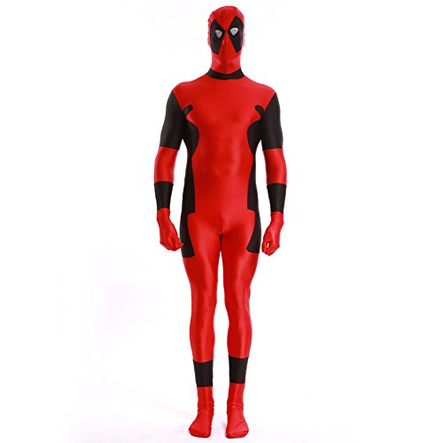 ourworth Deadpool Costume (Large) Red and Black]()