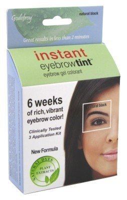 Amazon.com : Eyebrow Coloring Tint Kit, godefroy Instant, natural ...