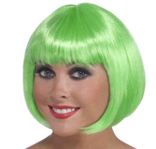 Adele Fancy Dress Costume (Forum Novelties Women's Neon Bob Costume Wig, Green, One Size)