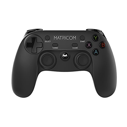 Matricom G-Pad XYBA Wireless Rechargeable Bluetooth Pro Game Pad Joystick Controller (Samsung Gear VR, PC, PS3, and G-Box Compatible!) (Wireless Game Controller For Pc)