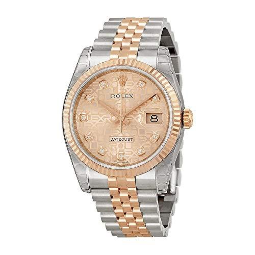 Rolex Datejust Pink Jubilee Diamond Dial Fluted 18kt Rose Gold Bezel Jubilee Bracelet Mens Watch 116231PJDJ