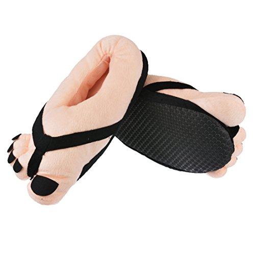 Vertvie Damen Herren Paar Winter Große Füße Hausschuhe Zehen Hausschuhe Slipper Rosa