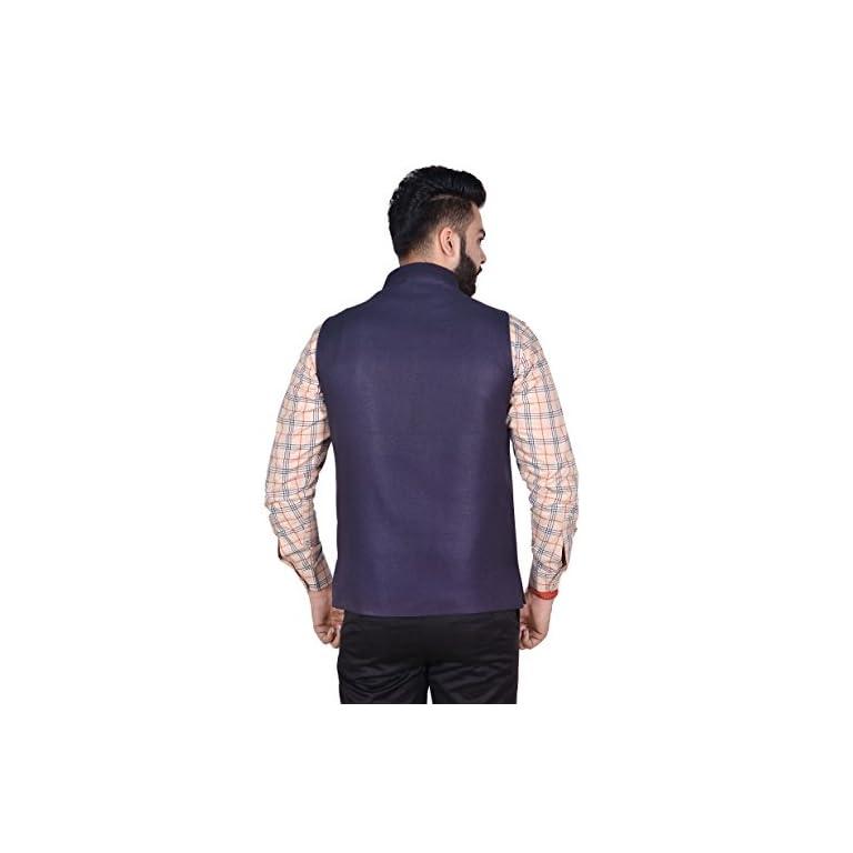 41A Lm6D48L. SS768  - OORA Men's Cotton Blend Woven Nehru and Modi Jacket
