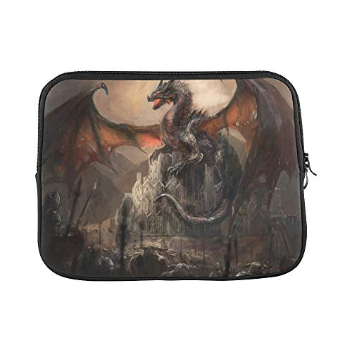 Design Custom War with The Dragon On Castle Sleeve Soft Laptop Case Bag Pouch Skin for MacBook Air 11