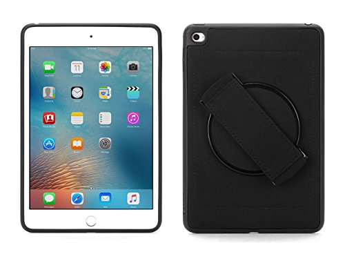 Griffin iPad Mini 4 Case with Built-in Rotating Hand Strap, AirStrap 360 Degree Rotational Case, Black