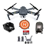 DJI Mavic Pro with Remote Controller - Bundle With DJI Hard Case Backpack, FS Labs Heightened Landing Gear, FS Labs Sunhood, 32GB Micro SDHC Card, ExpoImaging 32'' FlatHat Collapsible Pad