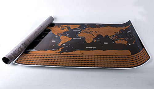 Scratch Off World Map Poster – US States Outlined, Travel Scratch Off Map of the World, Perfect Travel Gift by Jungle Merchant Photo #4