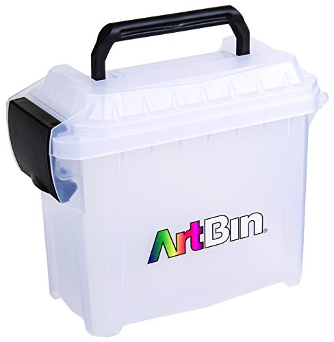 ArtBin Micro Side Kick, Transparent Storage Container with Black Handle and Latch 6915AG by ArtBin