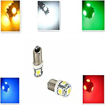 Modern LED Bulbs 1 pcs ding yao BA9S 5W 5X SMD 5050 100-300LM Cool White/Red/Blue/Yellow/Green Decorative Decoration Light DC 12 V , 270°