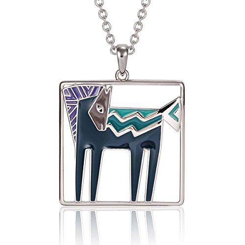 Laurel Burch Classics Collection Temple Horse Pendent Necklace