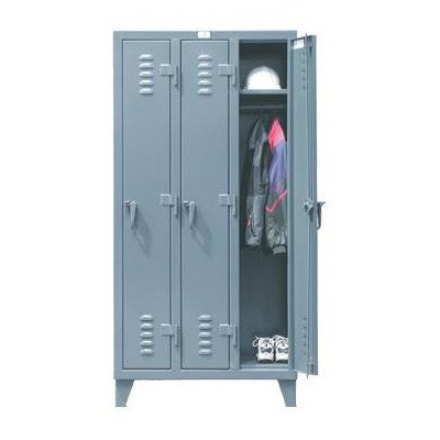 Strong Hold Products 46-18-1TSL Dark Gray 4 Door Slim-Line Locker, 12 gauge, 50'' Width x 18'' Diameter x 72'' Height by Strong Hold