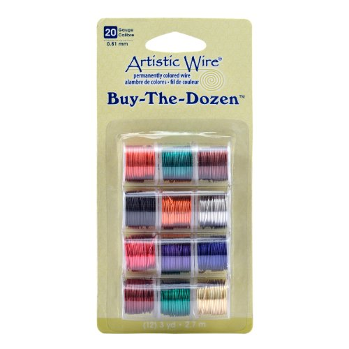 Price comparison product image Artistic Wire 20-Gauge Buy-The-Dozen, Various Colors, 12-Pack