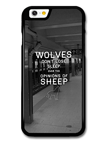 Wolves Don't Lose Sleep Cool Quote in White over Subway Photo case for iPhone 6 6S