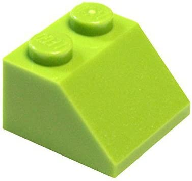LEGO Parts and Pieces: Lime (Bright Yellowish Green) 2x2 45 Slope x50