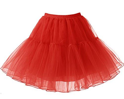 Bridesmay Short Vintage Red Tutu Rockabilly Cancan Petticoat Women zrP5wqAxZz