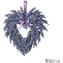 Hanging Heart-Shaped Wreath - Purple - Lavender
