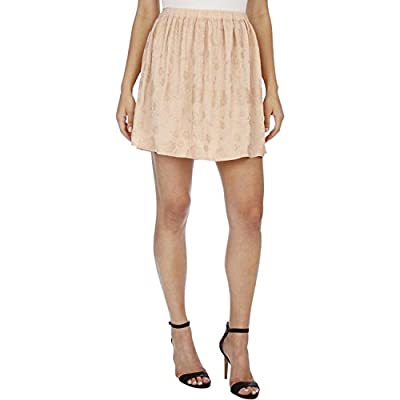Lucky Brand Womens Embroidered Ruched A-Line Skirt