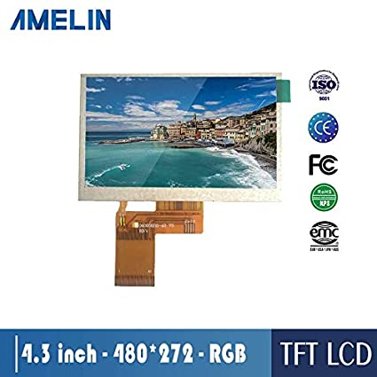 Amazon com: AMELIN TFT LCD Ultra Wide 4 3 inch Resolution