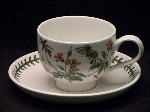 Herb Saucer Cup (Portmeirion Botanic Garden Breakfast Cup & Saucer Traditional Herb Robert)