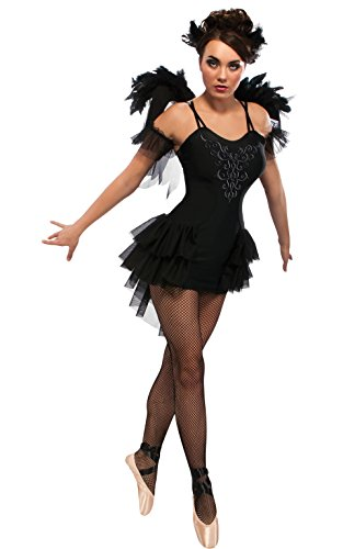 [Rubie's Costume Swan Dress With Wings Headpiece and Sleevelettes, Black, Small] (Swan Halloween Costumes)