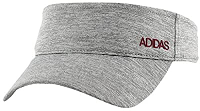 adidas Women's Standard Sport2street Visor, Grey/Clear Onix Heather/Noble Maroon, One Size from adidas