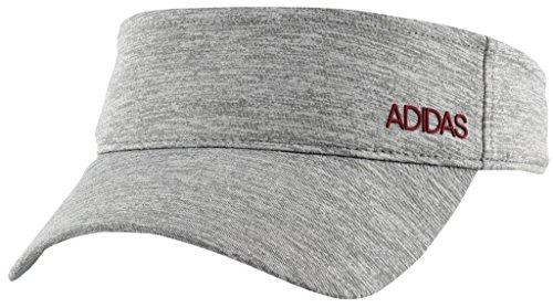 adidas Women's Sport2Street Visor, grey/clear Onix heather/Noble maroon, One Size -