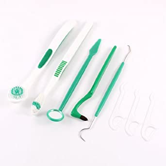 DealMux cepillo de dientes de la seda dental limpiador lingual cavidad oral fijó 8 en 1: Amazon.es: Industria, empresas y ciencia