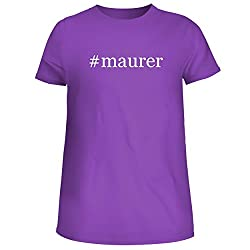 Maurer Cute Womens Junior Graphic Tee Purple X Large