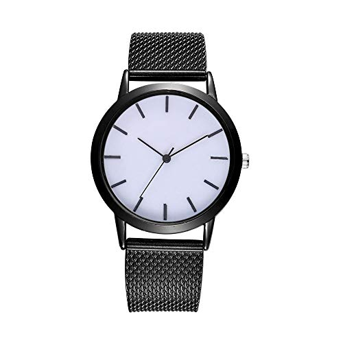 Fashion Women Watches Simple Casual Quartz Silicone Strap Band Watch Analog Wrist Watch (Black a)