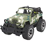 Liberty Imports Off-Road Friction Powered Military Armored Toy Car - 1:16 Realistic Wrangler Kids Vehicle with Lights and Sounds