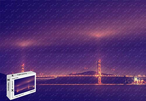 PigBangbang,34.4 X 22.6 Inch,Premium Basswood Large Size - San Francisco Golden Gate Bridge - 1500 Piece Jigsaw Puzzle (5 Facts About The Golden Gate Bridge)