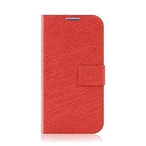 Teléfono Móvil Samsung - Fundas con Soporte - Color Sólido - para Samsung S4 I9500 ( Negro/Rojo/Rosado/Azul oscuro/Azul claro , Cuero PU ) , Black