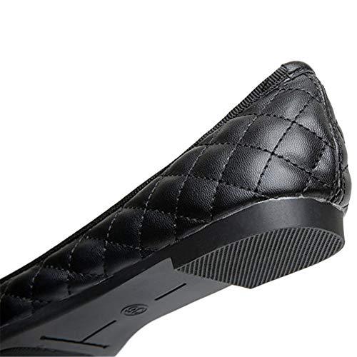 Solo de Arco Baja Moda Oficina Zapatos UE EU Boca cómodos Negro FLYRCX Embarazada Planos de Zapatos Hotel 37 de 41 Informal Zapatos Trabajo Mujer Zapatos ZH0xqC