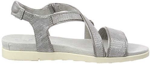 s.Oliver Women's 28208 T-Bar Sandals Silver (Silver Comb) 42AOU8z1lF
