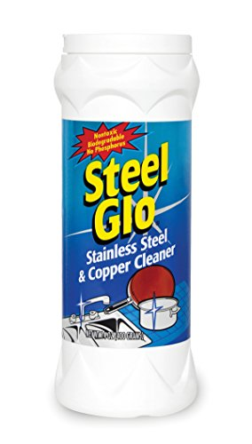 Steel Glo Stainless Steel Cookware Cleaner and Copper Cleaner (14 oz, 6 Pack) Helps Remove Stains and Tarnish from Pots and Pans, Multi-Purpose Metal Cleaner, Powder Form - Steel Cleaner Cookware Stainless